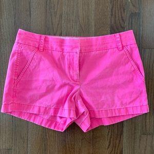 J. Crew Hot Pink Chino Shorts
